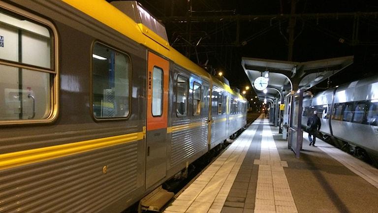 Bild på tågperrong