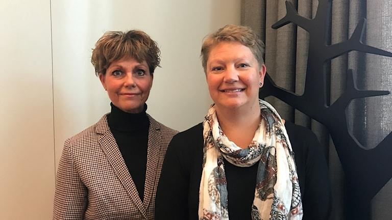 Eva-Lena Tellsdotter och Helena Axén