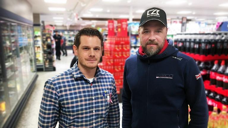 Christoffer Russo och Mikael Åkerstedt