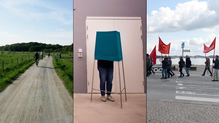 Koster, röstbås och röda flaggor
