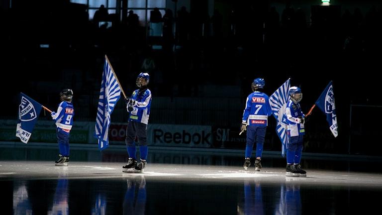 Inför matchen i Arena Vänersborg.