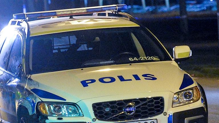 Polisbil. Foto: Johan Nilsson/TT.
