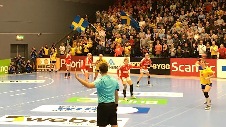 Sverige mötte Danmark i VM-genrepet i handboll