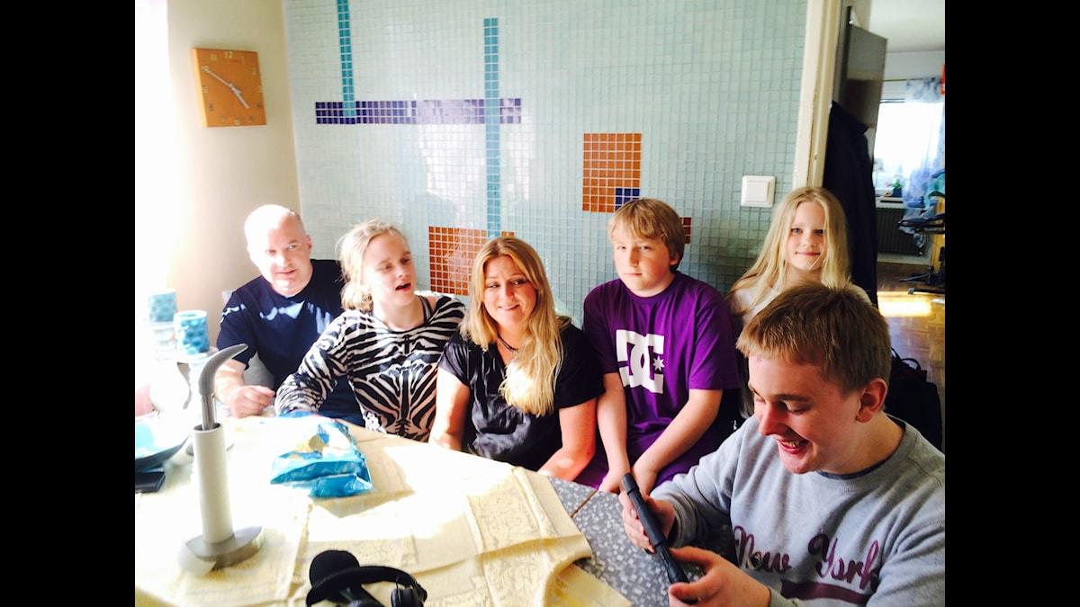Familjen Högdahl. Foto: Linda Jenssen Kidane