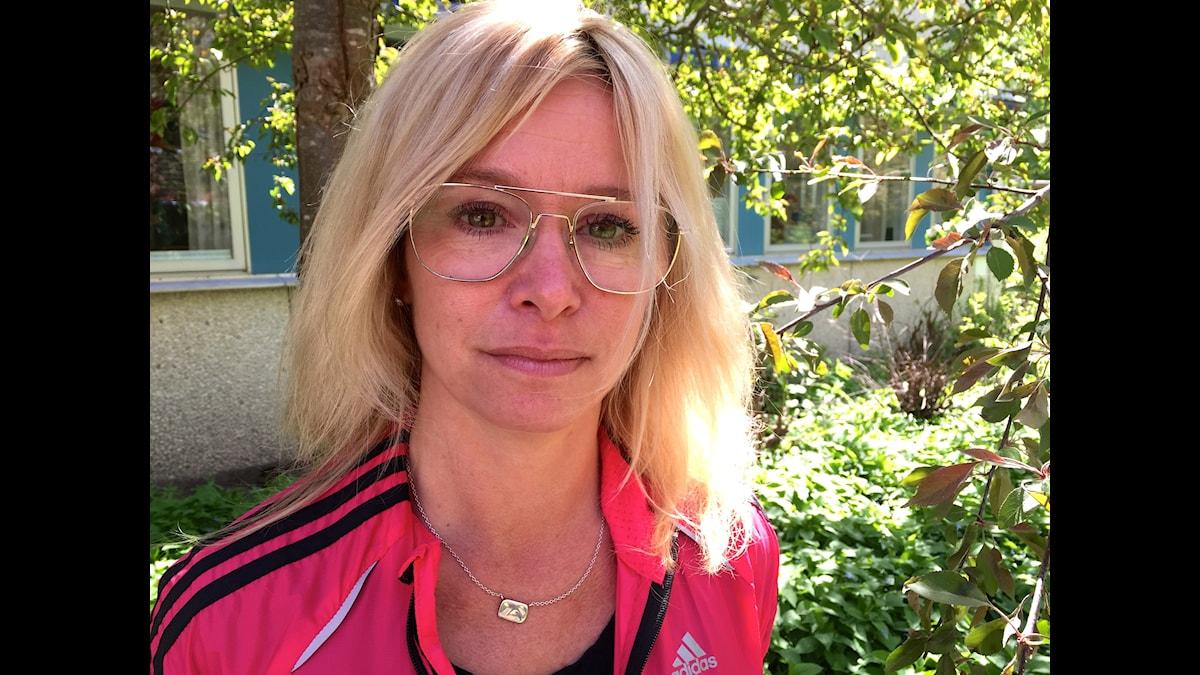 Undersköterskan Marie Litsesiö blev utbränd för ett år sedan. Foto: Moa Soltanian Magnusson