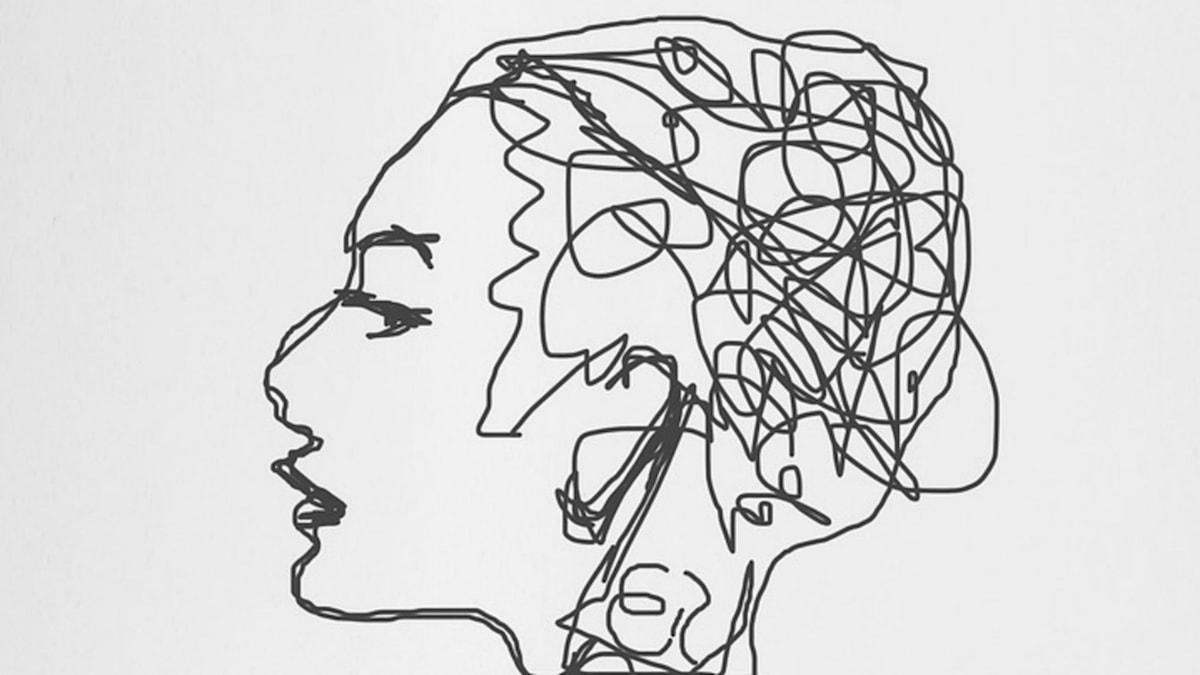 Tecknad bild på huvud