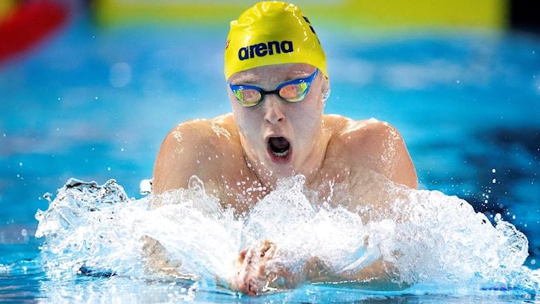 Erik Persson simmar på kortbane-EM i Köpenhamn.