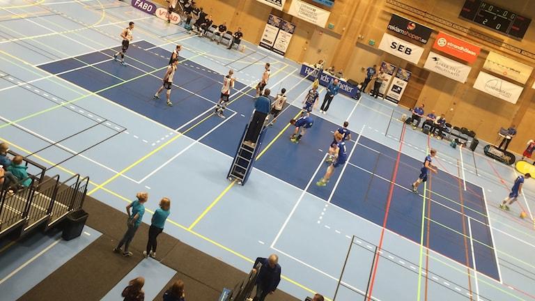 Hylte/Halmstad möter Falkenberg volleybollklubb.