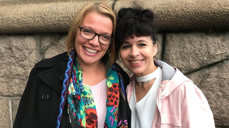 Renny Eelkema och Jane Malmfeldt distriktssköterskor på Solhemmet och Björkebogården i Veinge och Knäred.