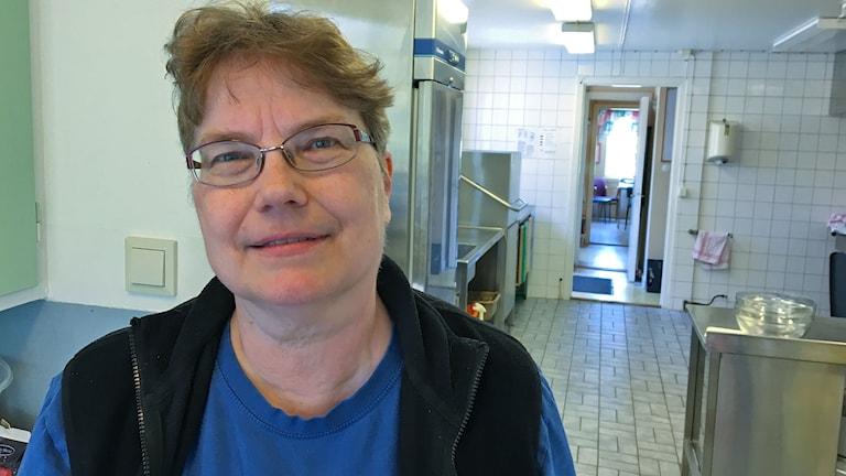 Föreståndaren för Kuggavik i Åsa, Ann-Sofi Fritzon. Foto: Per Qvarnström/Sveriges Radio