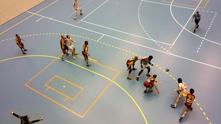 HK Drott möter Tyresö i Halmstad Arena. Foto: Patric Ljunggren/Sveriges Radio
