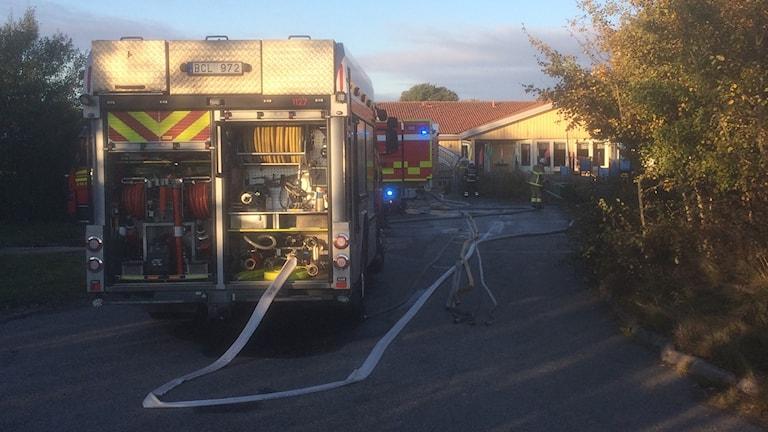 Arkivbild: Förskolan i Lerkil förstördes delvis i en brand redan hösten 2016.