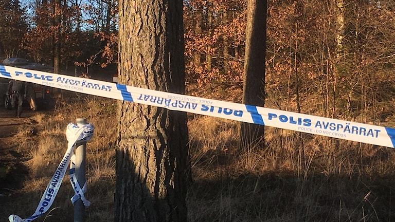En död person har hittats i Marbäck.
