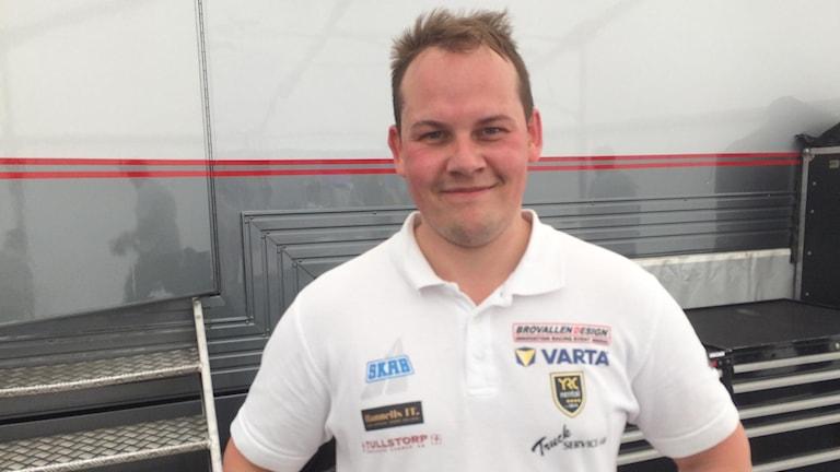 Alex Andersson från Falkenbergs MK efter söndagens båda heat i TCR på motorbanan i Falkenberg.