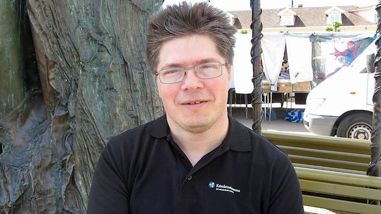 Larry Söder(KD), kommunfullmäktiges ordförande i Kungsbacka. Foto: Magnus Hagström/SR Halland