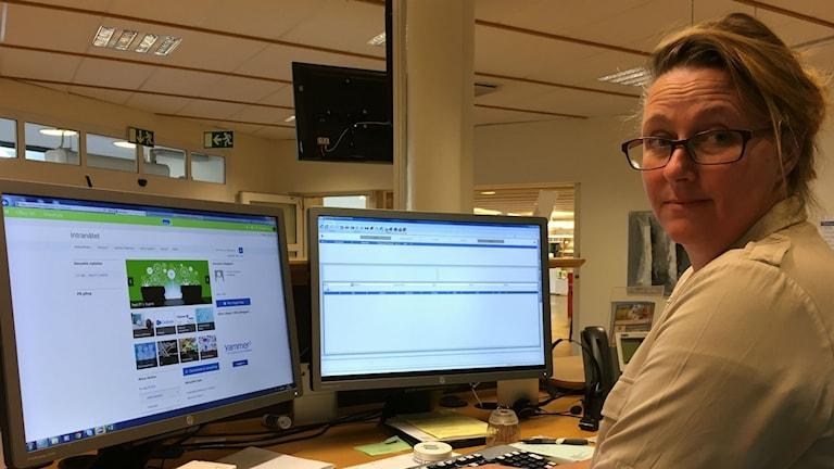Tina Örqvist på Medborgarservice Laholms kommun.