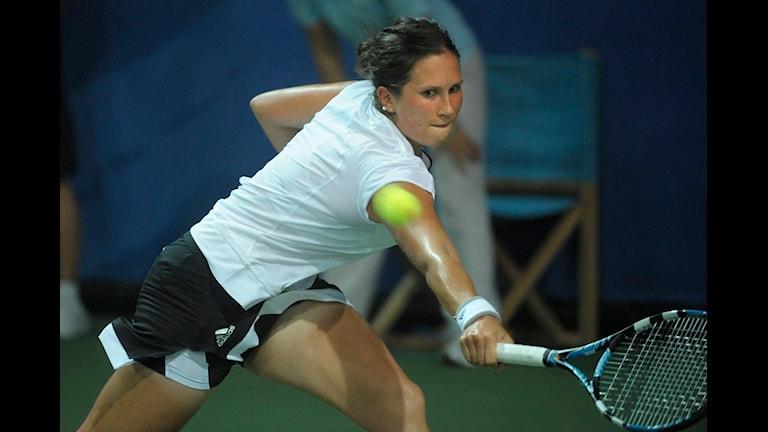 Kanske finns nästa stora tennisstjärna i klass med Sofia Arvidsson i Falkenberg. Foto: Fredrik Sandberg/Scanpix