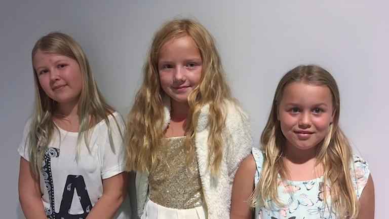 Tilda Rydne, Felicia Wahlström och Stella Isaksson