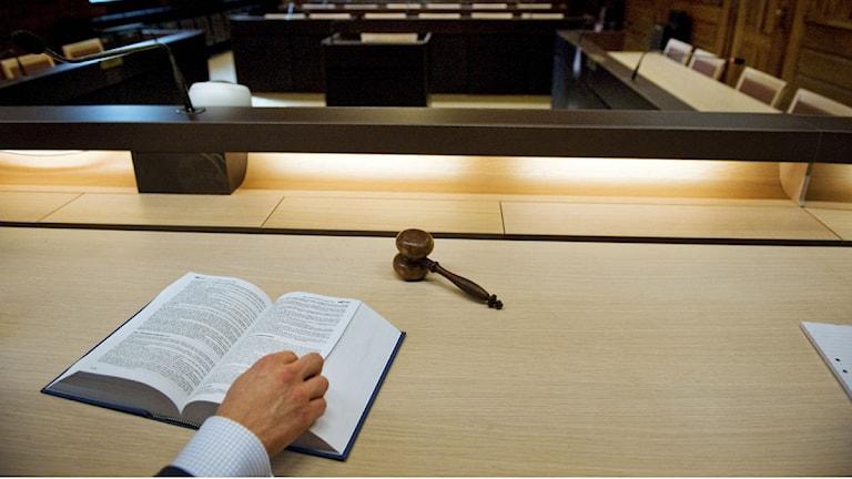Domare vid tingsrätten. Foto: Jessica Gow/Scanpix