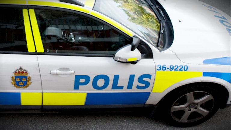 Polisbil. Foto: Bertil Ericson/TT