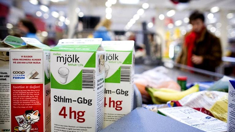 Mjölkpaket. Foto: Nils Petter Nilsson/Scanpix