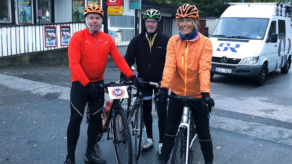 Mikael Kulanko, Ingvar Krönander och vår egen Cykel-Lisa.