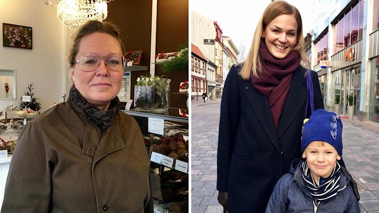 Eva Olsson och Sigrid och Charlie Wretborn