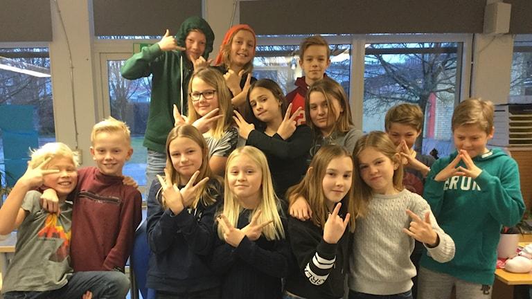 Jutarumsskolan klass 5B.