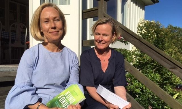 Eva Bloch och Ada Elmgart, författare till boken Kundfokus.