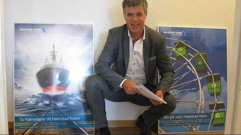 Björn Alvengrip, vd Hallands hamnar.