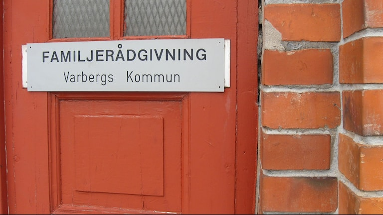 Familjerådgivningens entré i Varberg. Foto: Magnus Hagström/Sveriges Radio.