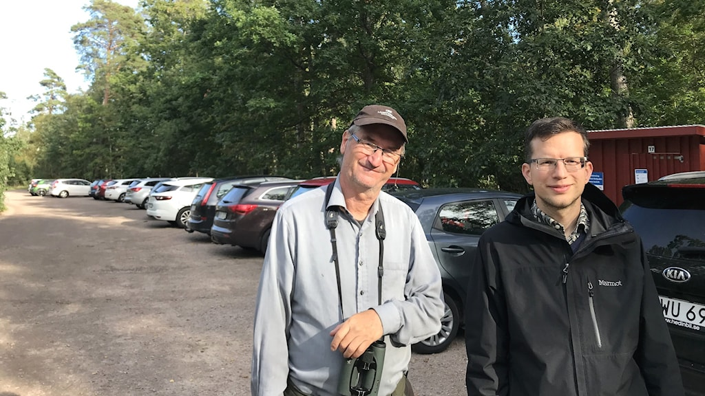 Håge Karlsson, naturvårdsvakt och Conradin Weindl, friluftsstrateg.