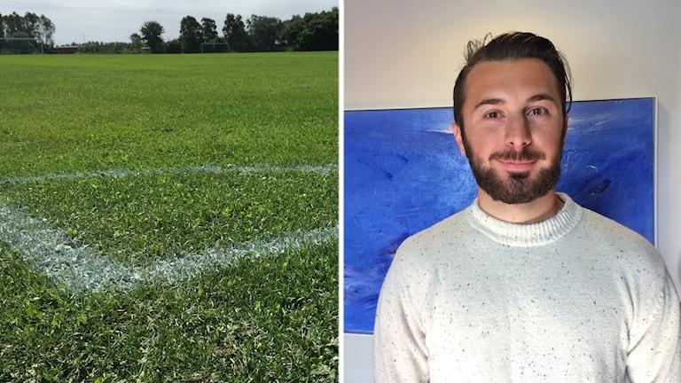 Adnan Bainca har hyllats för sitt initiativ med nattfotboll.