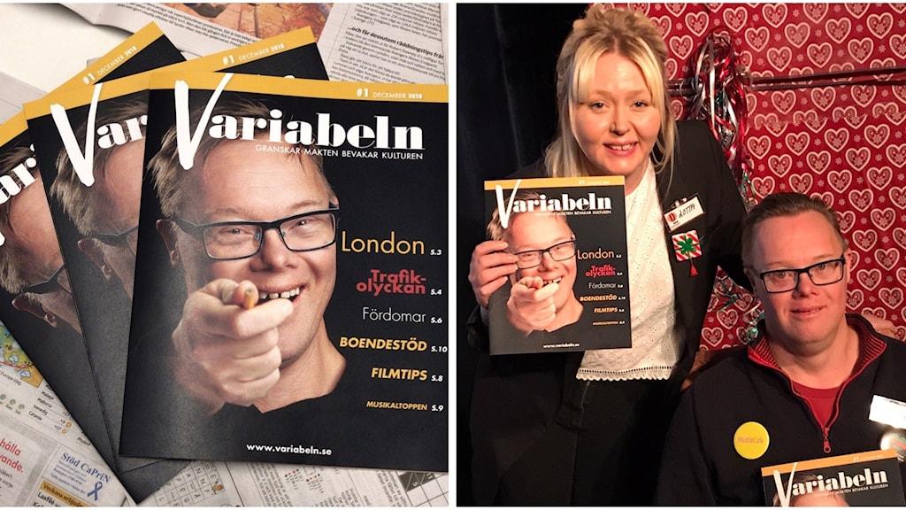 Johan Lindegren och Lotta Virack från tidningen Variabeln.