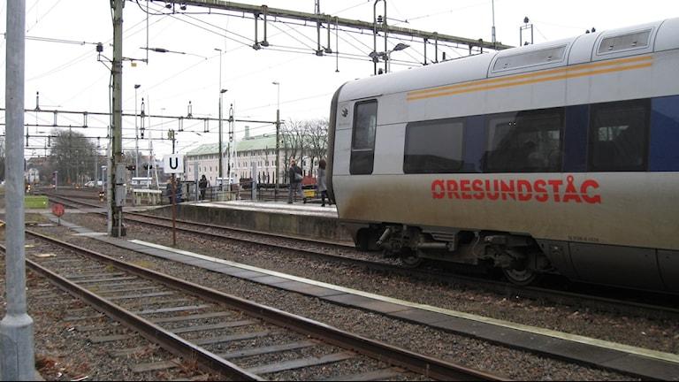 Öresundståg på väg från Varbergs station. Foto: Sveriges Radio