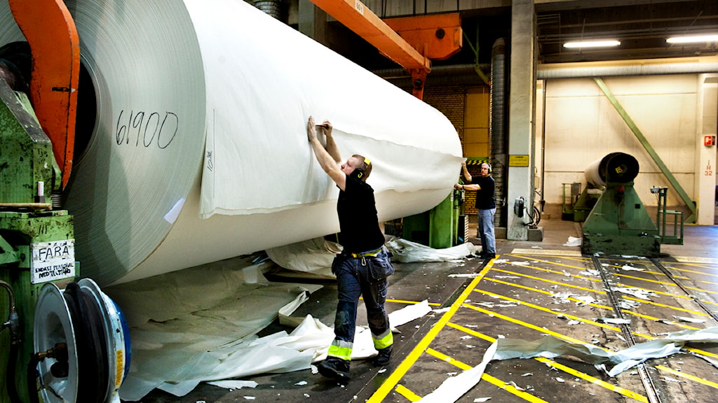 Pappersbruket i Hyltebruk. Foto: Lars Pehrson/SVD/Scanpix