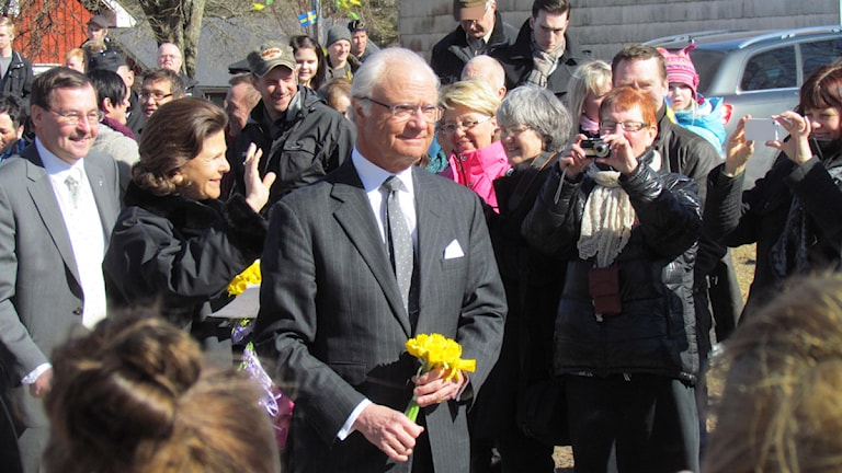Kungen besökte Landeryd. Foto: David Spånberger/Sveriges Radio