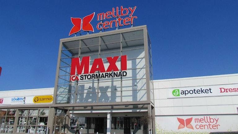 Mellby Center. Mellbystrand. Foto: Cecilia Rosén/Sveriges Radio