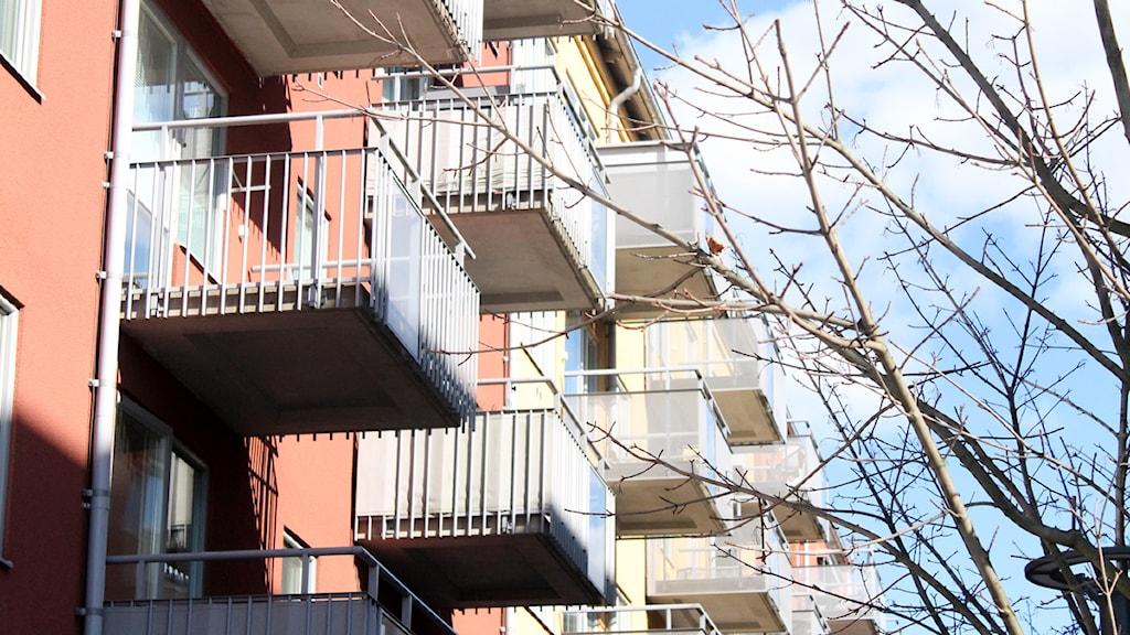 Bostäder bostad balkong hyresrätter lägenhet bostadsrätt Foto: Sara Hector/Sveriges Radio