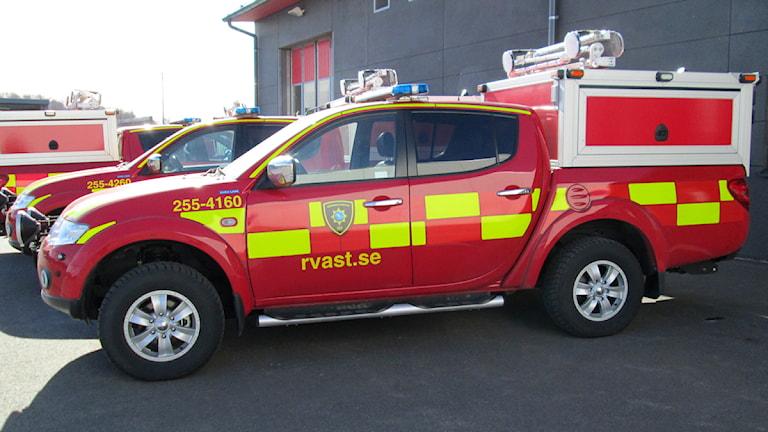 Räddningstjänstens nya bilar som ska tas i bruk innan sommaren.