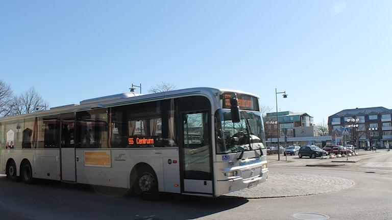 Buss Falkenberg Hallandstrafiken. Foto: Sara Hector/Sveriges Radio