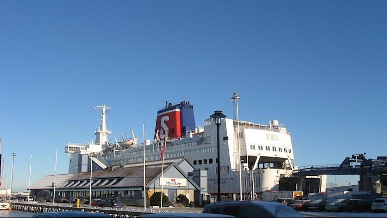 Stena Line i hamnen i Varberg. Foto: Jennie Persson.