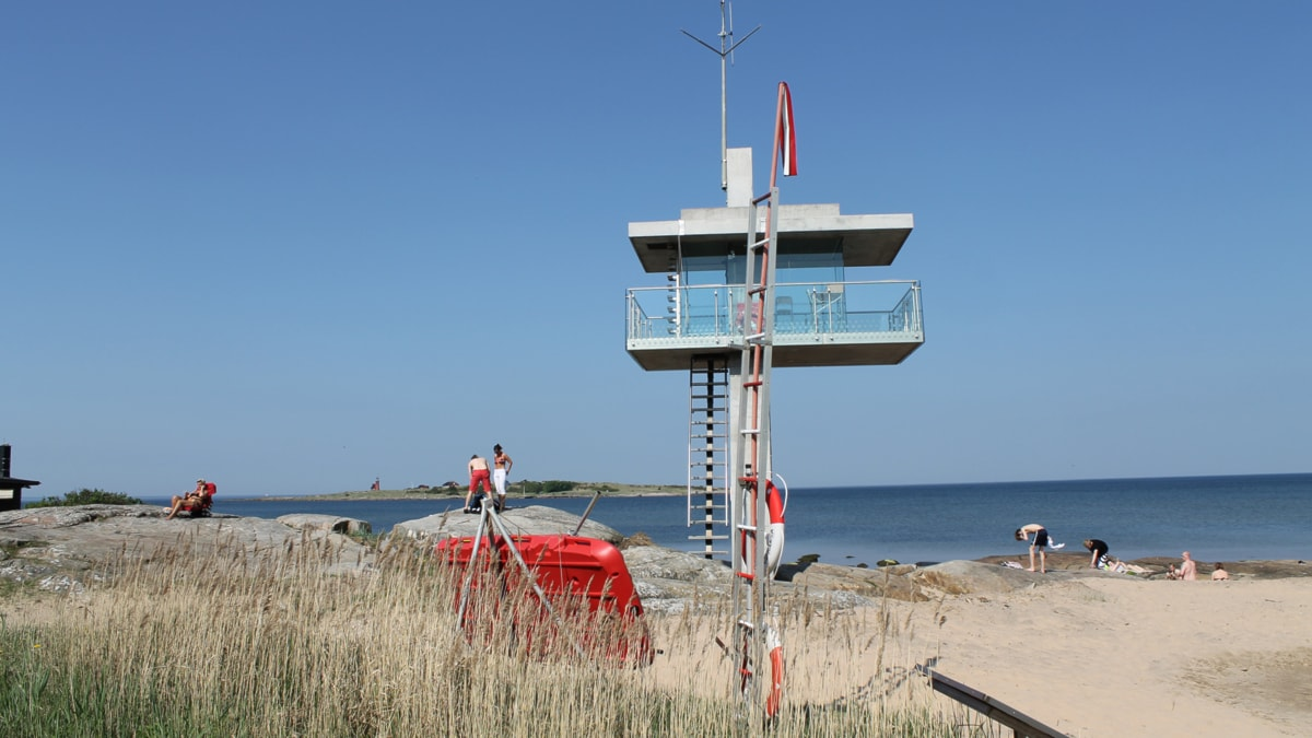 Sommar på Tylösand idag. Foto: Sara Hector/Sveriges Radio