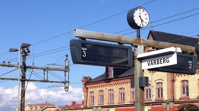 Tågstation Varberg Foto: Sara Hector/Sveriges Radio