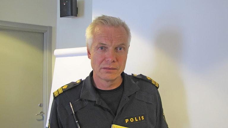 Tommy Nyman, informatör vid Hallandspolisen. Foto: Johan Sundström / Sveriges Radio
