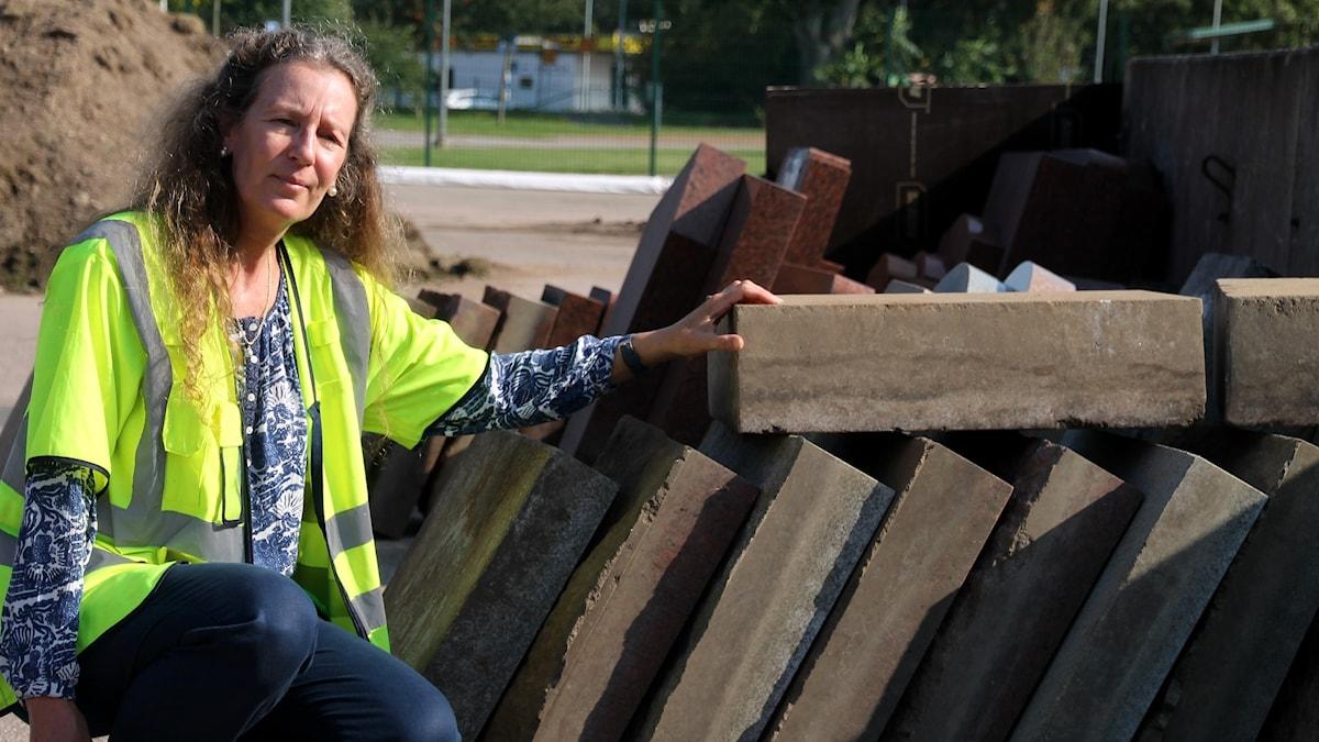 Karin Gunnarsson, driftledare på Västra kyrkogården i Halmstad.