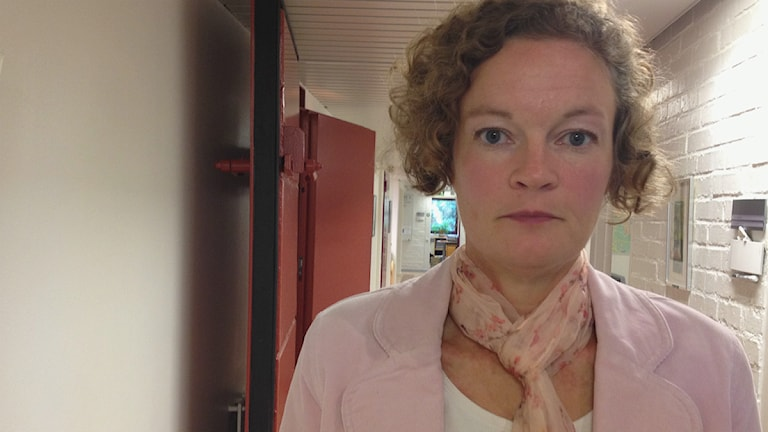 Ulrika Granfors, fastighetschef på Kungsbacka kommun. Foto: Jennie Persson/Sveriges Radio.