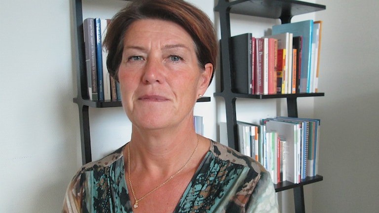 Ulrika Landergren, vice ordförande i Kungsbacka kommun. Foto: Jennie Persson/Sveriges Radio.