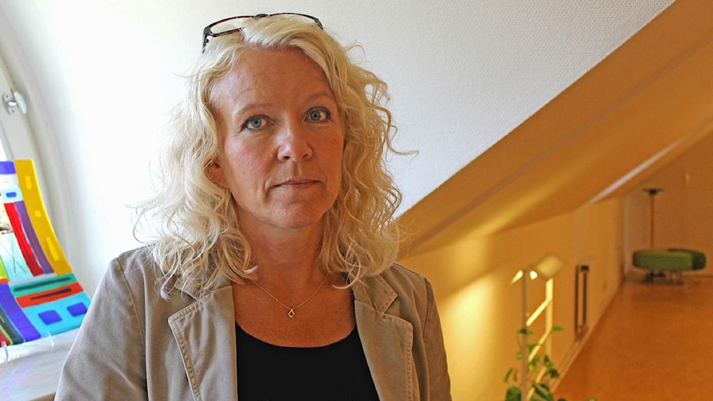 Hallands regiondirektör Catarina Dahlöf. Foto: Lisa Hedström Arvidsson /Sveriges Radio