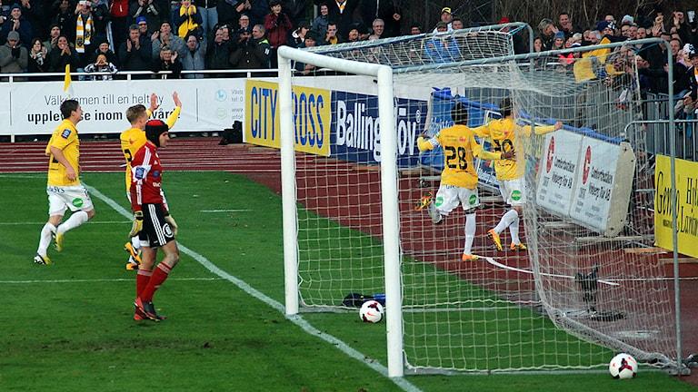 Calle Wede satte 3-1 till Falkenberg.